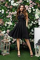 Чёрное нарядное женское платье 42,44,46, фото 1