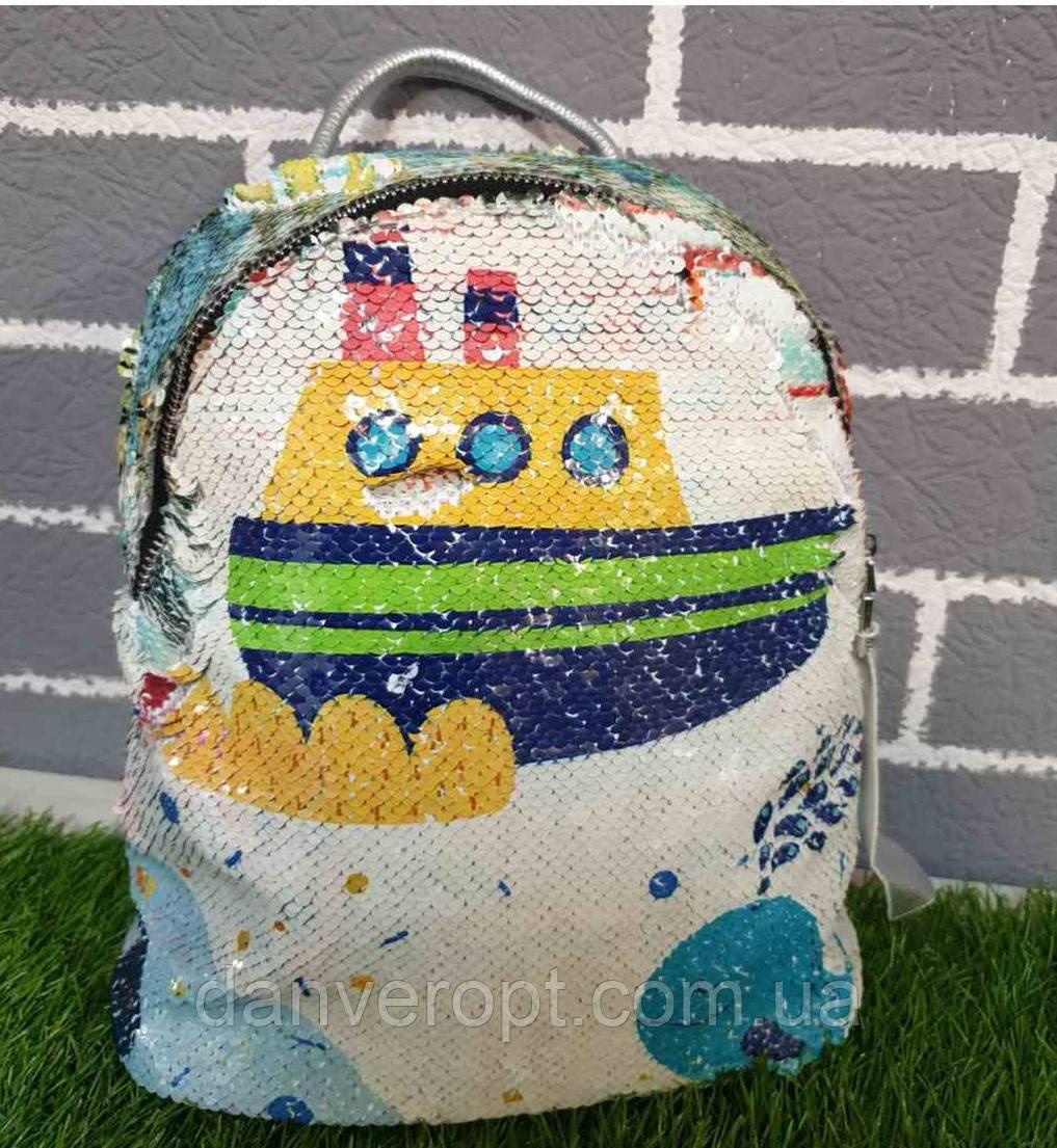 Рюкзак детский стильный с пайетками SHIP для девочки размер 28х25 купить оптом со склада 7км Одесса