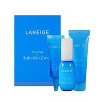 Набор миниатюр увлажняющих средств для ухода за кожей лица Laneige Water Bank Hydro Trial Kit 3 шт, фото 2