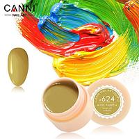 Гель-краска Canni №624 горчичная, 5 мл