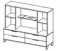 Шкафы группы низкие Evolution ДСП 18\134 (1600х500х1391)