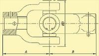 Шарниры карданные Сельхоз 140 Нм (шлиц 6, 8, 21 -отв.  ф 25, 30)