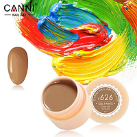 Гель-краска Canni №626 пастельная светло-коричневая, 5 мл