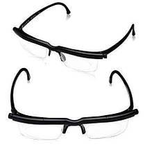 Универсальные очки для зрения Dial Vision [от -6 до +3] регулируемые очки для зрения, фото 2