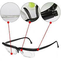 Универсальные очки для зрения Dial Vision [от -6 до +3] регулируемые очки для зрения, фото 3