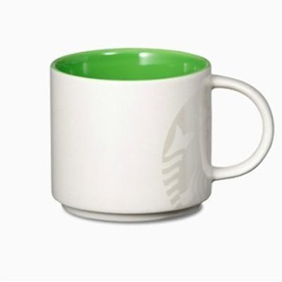 Керамическая чашка с оригинальным принтом Starbucks White/Green