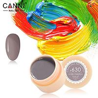 Гель-краска Canni №630 светлая коричнево-серая, 5 мл