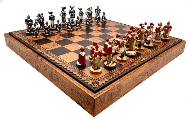 "Коллекция фигур ""Landsknecht"". Шахматы подарочные Italfama."