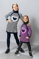 Детская вязаная туника для девочки