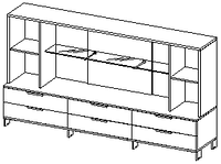 Шкафы группы низкие Evolution ДСП 18\135 (2400х500х1391)