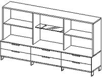 Шкафы группы низкие Evolution ДСП 18\136 (2400х500х1391)