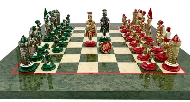"""Коллекция фигур """"Camelot Medio"""". Шахматы классические Italfama."""