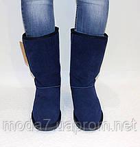 Замшевые женские угги UGG IT TS синие, фото 2
