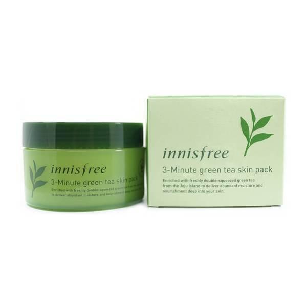 Увлажняющая трех минутная маска для лица с зеленым чаем Innisfree Green Tea 3Minute Skin Pack 70 мл