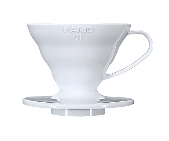 Пуровер Hario V60 02 белый пластиковый для заваривания кофе на 1-4  порции