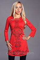 Модное платье-туника с перфорацией.46,48 размеры