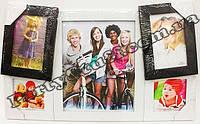 Рамка-коллаж черно-белая на 5 фото