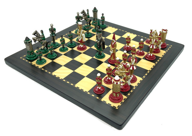 "Коллекция фигур ""Medioevale"". Шахматы подарочные элитные Italfama."