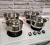 Набор кастрюль кухонных Royal Queen RY2061 из нержавеющей стали, фото 3