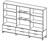 Шкафы группы средние Evolution ДСП 18\139 (2400х500х1707)