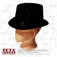 """Шляпа """"Цилиндр"""" черный велюр"""