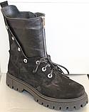 Высокие ботинки женские на каблучке деми от производителя ЛИ12, фото 5