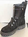 Высокие ботинки женские на каблучке деми от производителя ЛИ12, фото 6