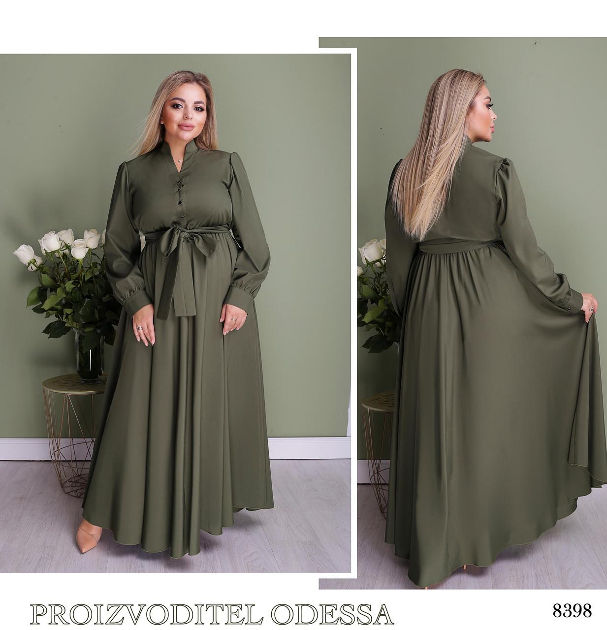 Платье длинное расклешенное софт армани 50-52,54-56,58-60,62-64