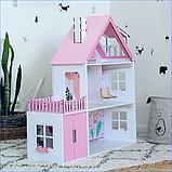 """""""Вилла София"""" Кукольный домик NestWood LOL/OMG/Барби, без мебели, МДФ, розовый, фото 6"""