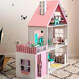 """""""Вилла София"""" Кукольный домик NestWood LOL/OMG/Барби, без мебели, МДФ, розовый, фото 4"""