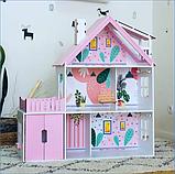 """""""Вилла София"""" Кукольный домик NestWood LOL/OMG/Барби, без мебели, МДФ, розовый, фото 5"""