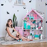 """""""Вилла София"""" Кукольный домик NestWood LOL/OMG/Барби, без мебели, МДФ, розовый, фото 9"""