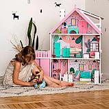 """""""Вилла София"""" Кукольный домик NestWood LOL/OMG/Барби, без мебели, МДФ, розовый, фото 7"""