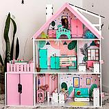 """""""Вилла София"""" Кукольный домик NestWood LOL/OMG/Барби, без мебели, МДФ, розовый, фото 10"""