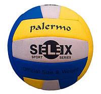 Мяч волейбольный Selex Palermo, сшитый, разн. цвета, фото 1