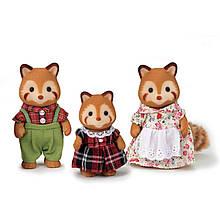 Sylvanian Families Calico Critters Семья красных панд 1492 Red Panda Family