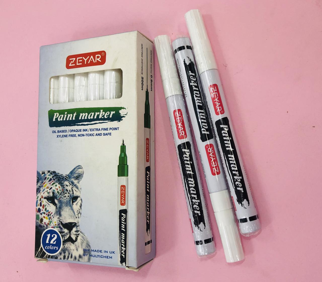 Маркер фарба промисловий Paint білий 0.8 мм