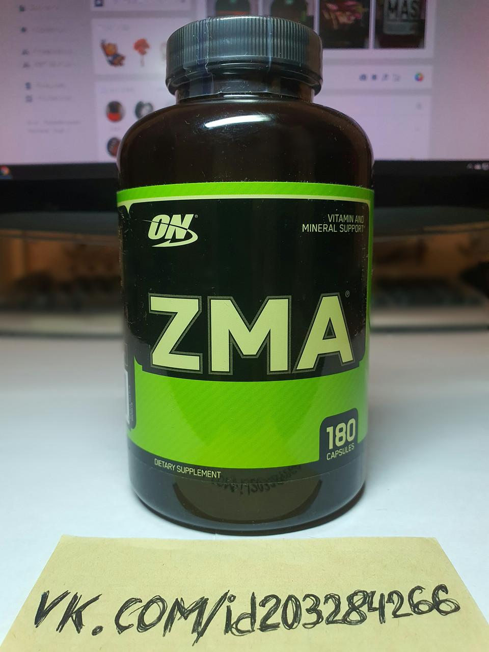 Бустер тестостерона Optimum Nutrition ZMA 180 капсул оптимум нутришн зма цинк магний б6