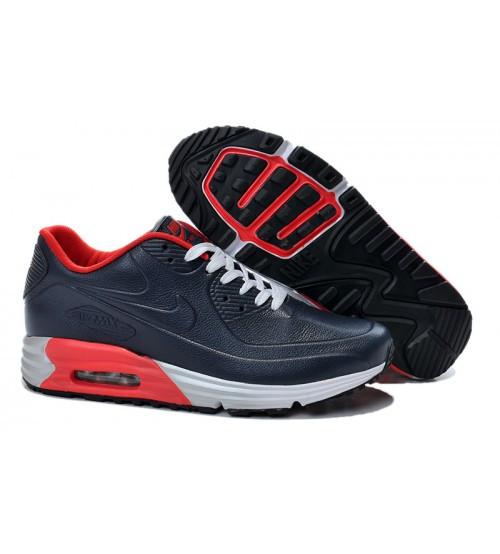 Мужские кроссовки Nike Air Max 90 Lunar SP Leather Navy Blue