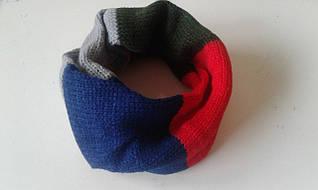 Детский шарф-хомут вязанный