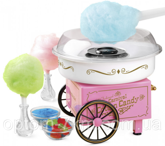 Домашний большой аппарат для приготовления сладкой сахарной ваты Cotton Candy Maker Ок