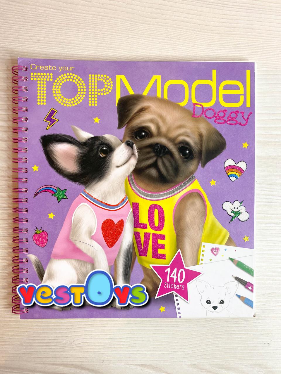 TOP Model розмальовка  Щенята (ТОП Модел Раскраска с наклейками Щенки набор для творчества Depeshe 10190)