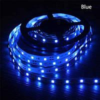 Стрічка синя 14,4W/м в 60LED/м IP20 світлодіодна МТК-300B5050-12 №1