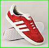 Кроссовки Adidas Gazelle Красные Мужские Адидас (размеры: 41,43,45) Видео Обзор, фото 6