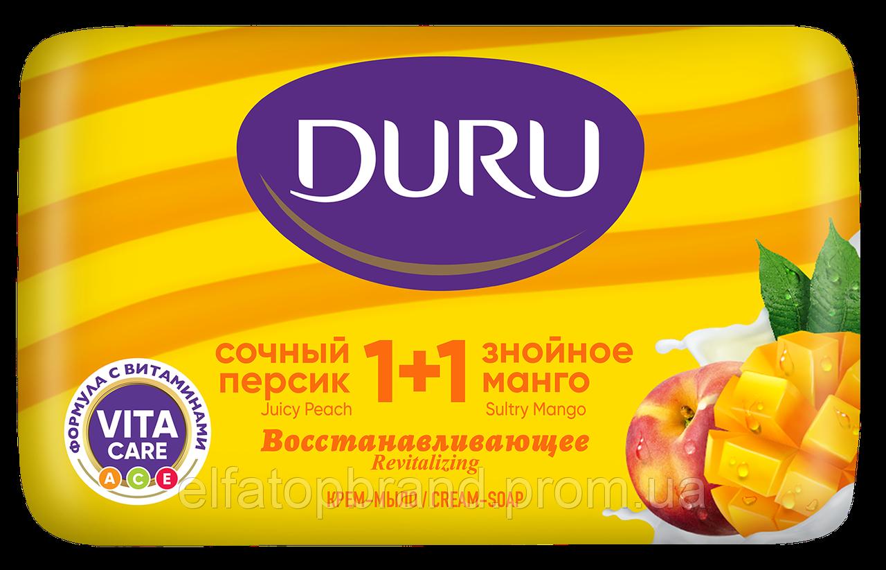 Мило DURU 1+1 Соковитий персик та знойне манго 80г х24