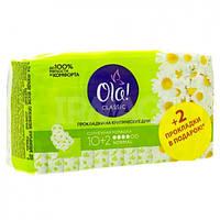 Гигиенические Прокладки Normal Удлиненные Мягкая Поверхность Солнечная ромашка Ола Ola Wings 10+2 Подарок 4 К