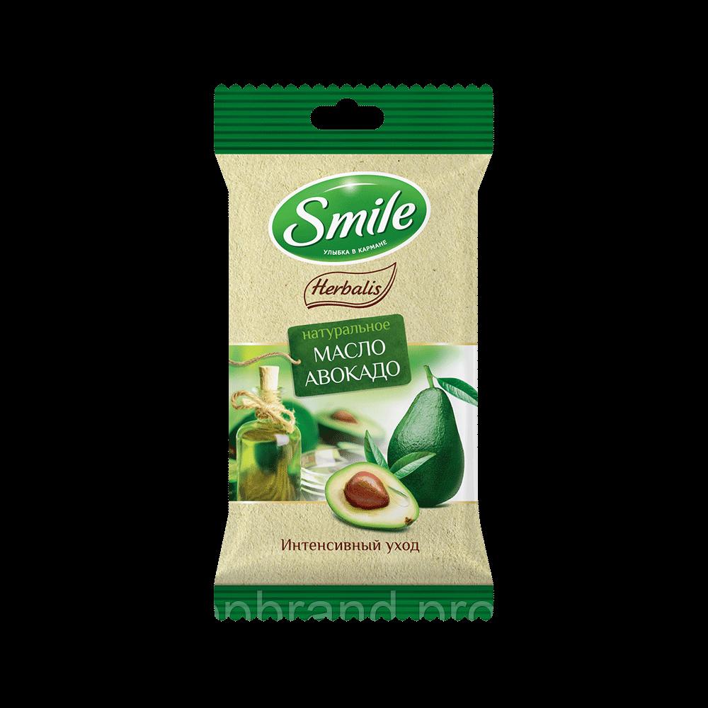 "Серветка волога SMILE ""Herbalis з олією авокадо"" 10шт Єврослот"