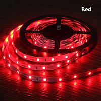 Стрічка червона 14,4W/м в 60LED/м IP20 світлодіодна МТК-300R5050-12 №1
