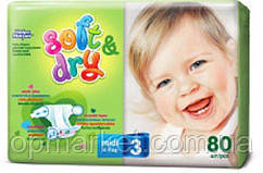 Подгузники Дышащие Для Детей Helen Harper Хелен Харпер Soft & Dry мега midi  №3 (4-9 кг) 80 шт