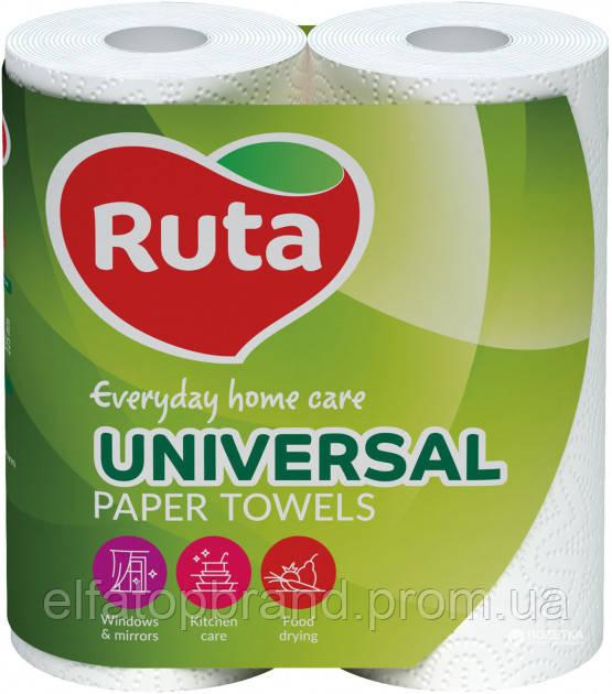 АКЦІЯ Рушники Паперові Універсальні Кухонні Двошарові Рута Ruta Універсальний Paper Towels 2 рулони